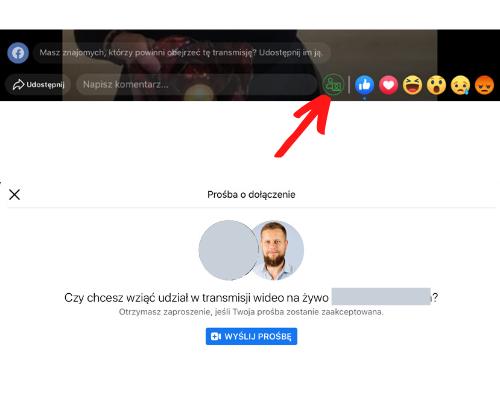 Facebook live zgościem zapki