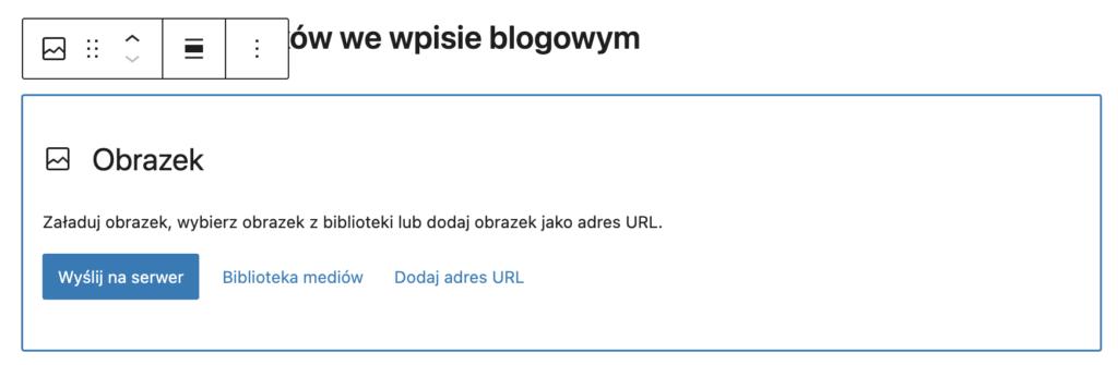 Przesyłanie obrazu przy dodawaniu wpisu WP.